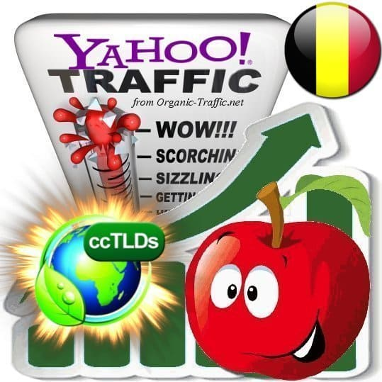 buy yahoo belgium organic traffic visitors
