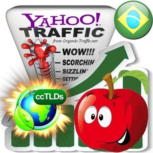 buy yahoo brasil organic traffic visitors