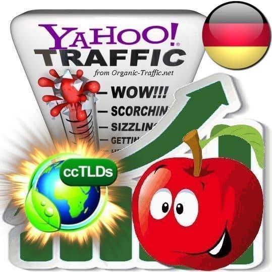 buy yahoo germany organic traffic visitors