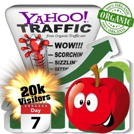 yahoo organic traffic visitors 7days 20k