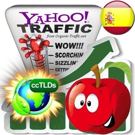 buy yahoo spain organic traffic visitors