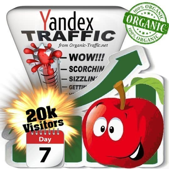 yandex organic traffic visitors 7days 20k