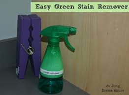 DIY green stain remover