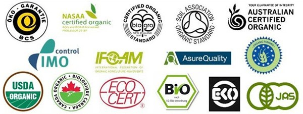 Organic certification bodies logo