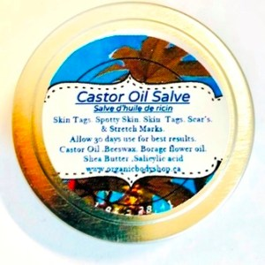 Castor Oil Salve for age spots,skin tags and more.