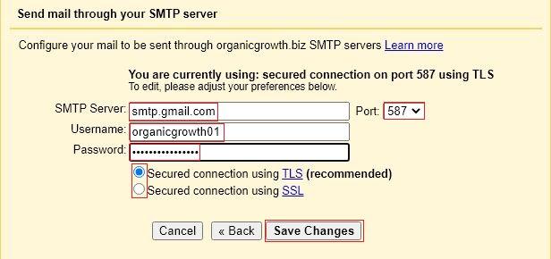 set smtp relay details2