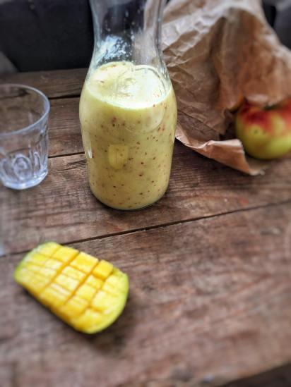 Mango smoothie met appel, Mango smoothie recept, Gezonde mango smoothie, Mangosmoothie, Mango appel smoothie, organic happiness, biologische foodblog, biologisch