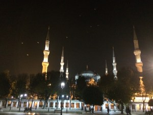 Istanbul Blue mosque at night