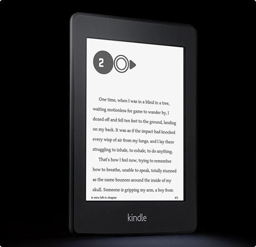 킨들의 가장 최신형인 Kindle Paperwhite