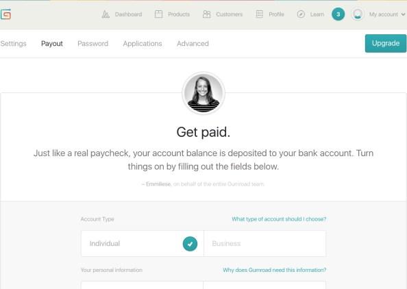 검로드에 로그인 후 Setting - Payout 메뉴에서 페이팔 계정을 등록하면 됩니다.