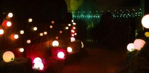 Glowing orbs line the way