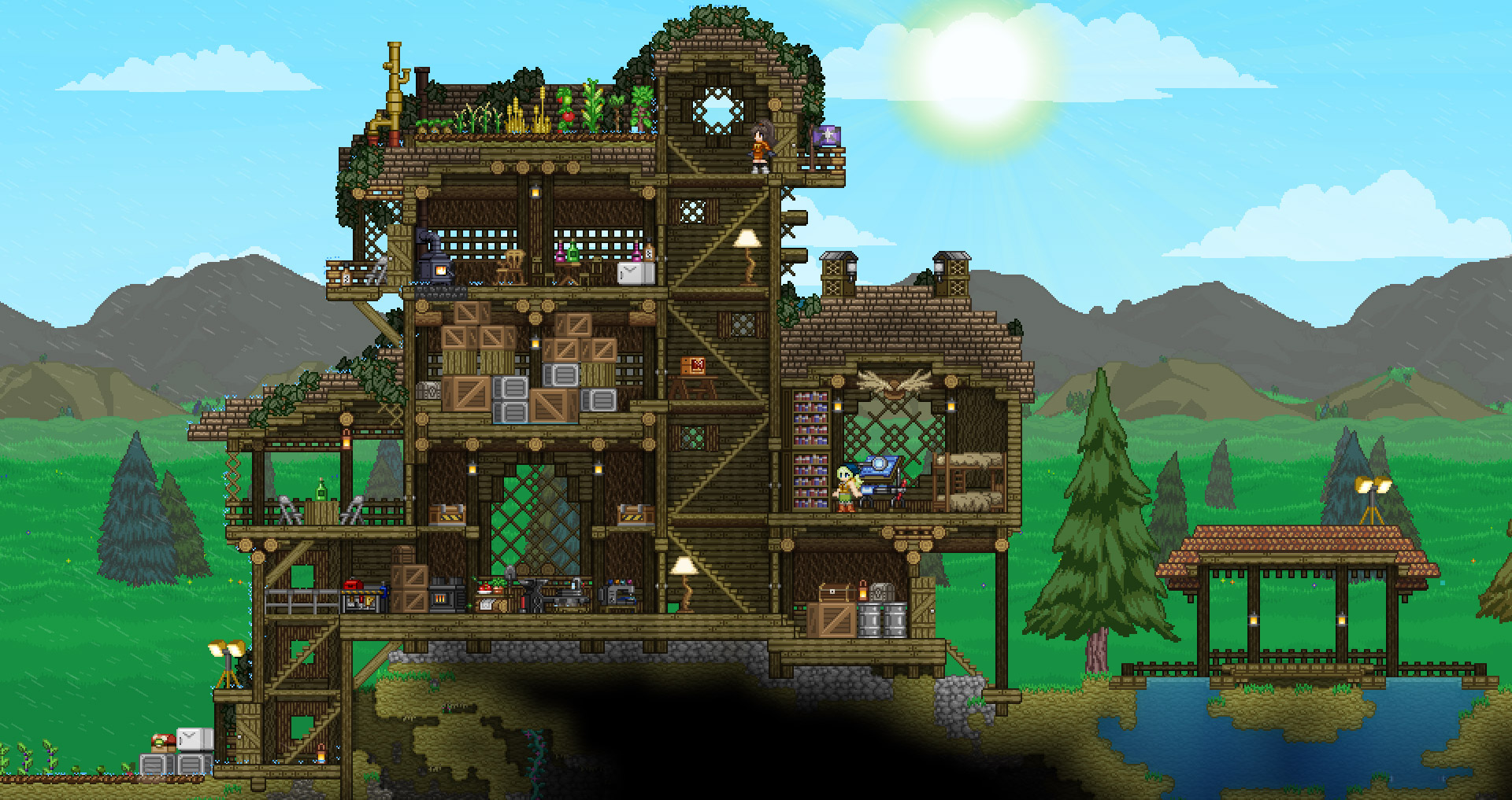 Scavenge A Variety Of Colorful Worlds In Starbound Gamer