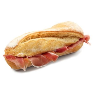Just bread and prosciutto.