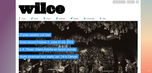 Wilco uses WordPress