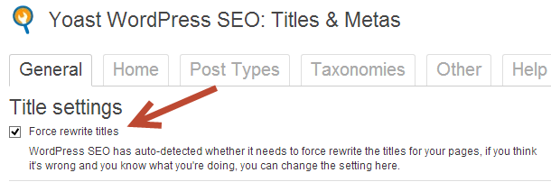 Instructions to fix the SEO titles not showing correctly in WordPress