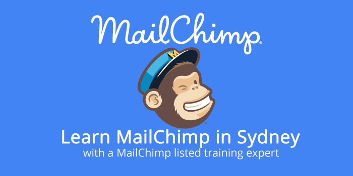 MailChimp logo with Sydney training text