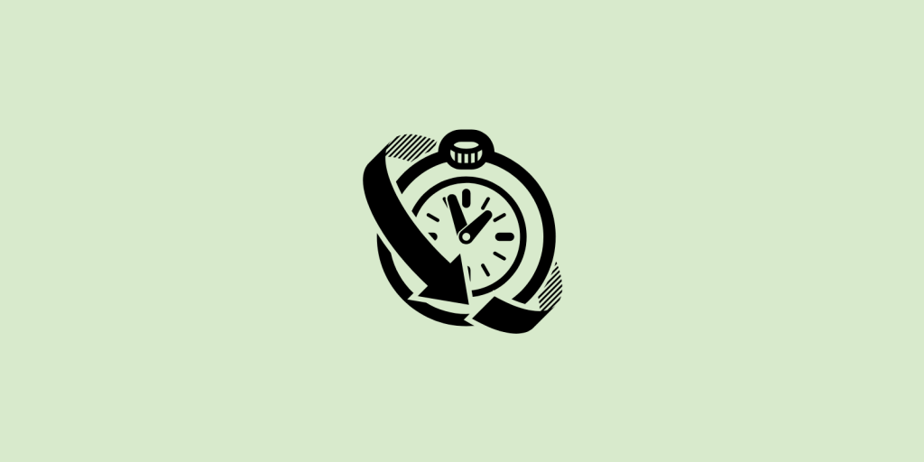 Clock on green background