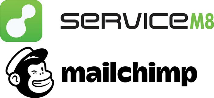 ServiceM8 and Mailchimp logos