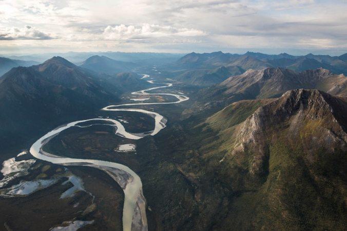 traag stromende rivier