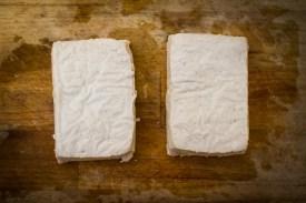 Tofu würflen