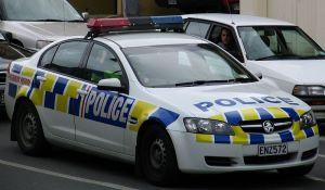 police car in traffic