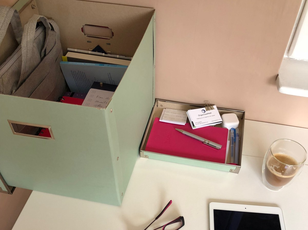 Storage box for office files and equipment