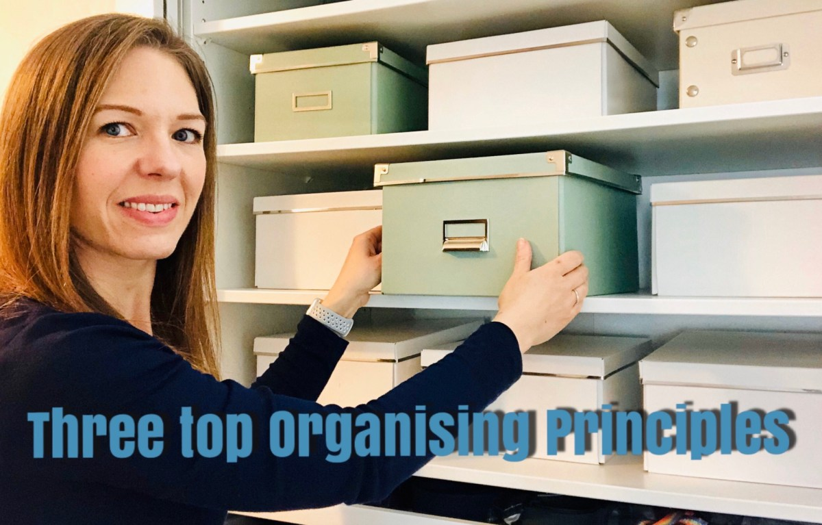 Laura Organising a cupboard