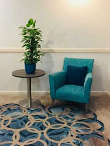 Corner Chair and plant