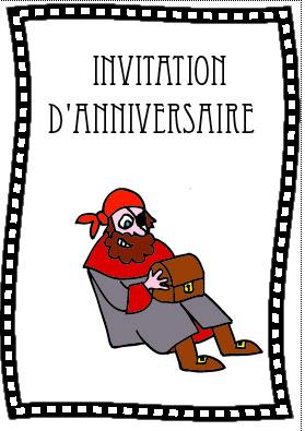 carte invitation pour chasse au tresor