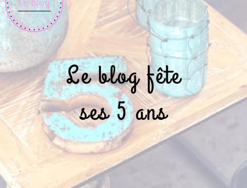 Le blog fête ses 5 ans