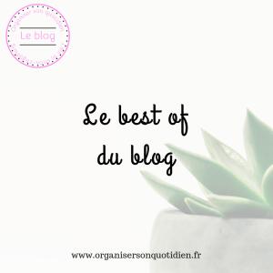 Le best of du blog : par où commencer ?