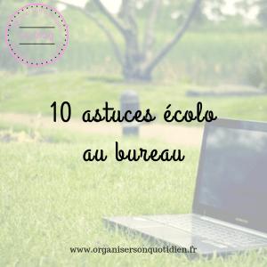 10 astuces écolo au bureau