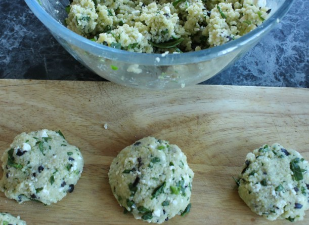 Couscous and spinach patties - OrganisingChaosBlog