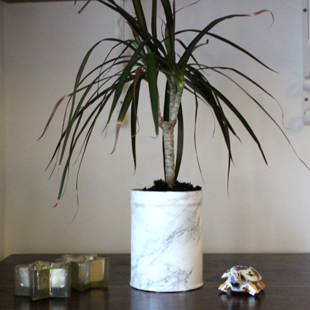 OrganisingChaosBlog - Make a marble flower pot 1