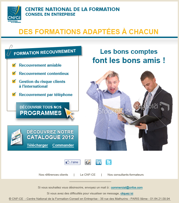 Formation recouvrement CNFCE