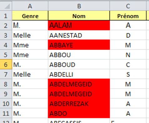 exemple cellule excel