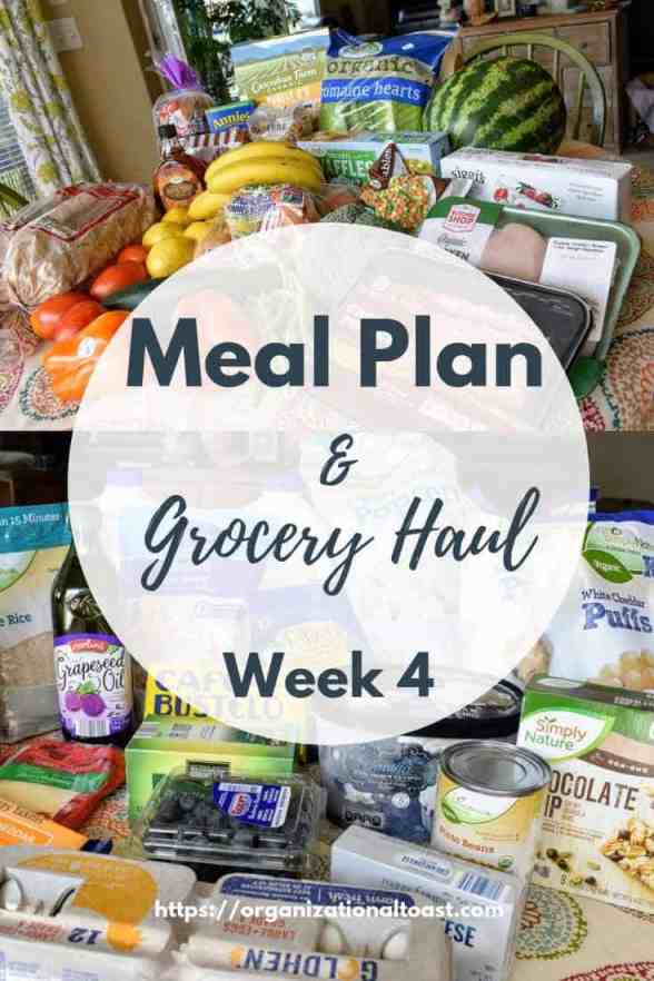 A complete look at our healthy meal plan and grocery haul on a budget for a family of four. I share the complete grocery lists plus all meals for the week. Mostly whole and organic foods all on a budget. This is week 1 of the series! #mealplan #groceryhaul #groceryshoppinghacks #grocerybudget