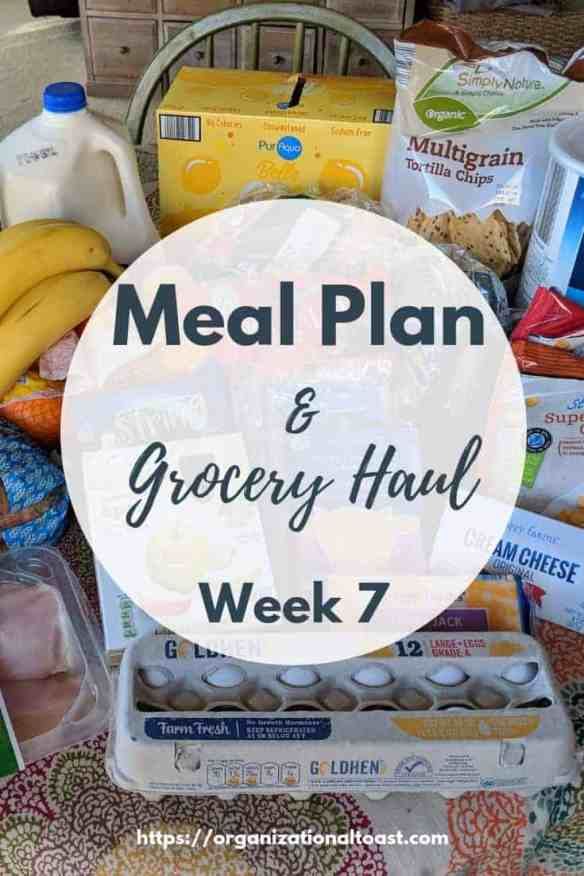 Grocery haul and meal plan for a family of four on a budget. See exactly what we eat and how much we spend! #budget #mealplan