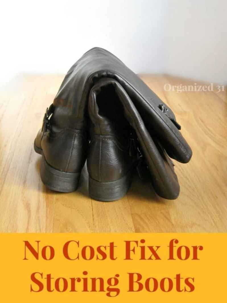 No Cost Fix For Storing Boots Organized 31