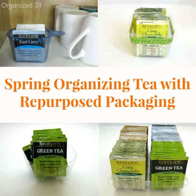 Spring Organizing Tea with Repurposed Packaging - Organiized 31