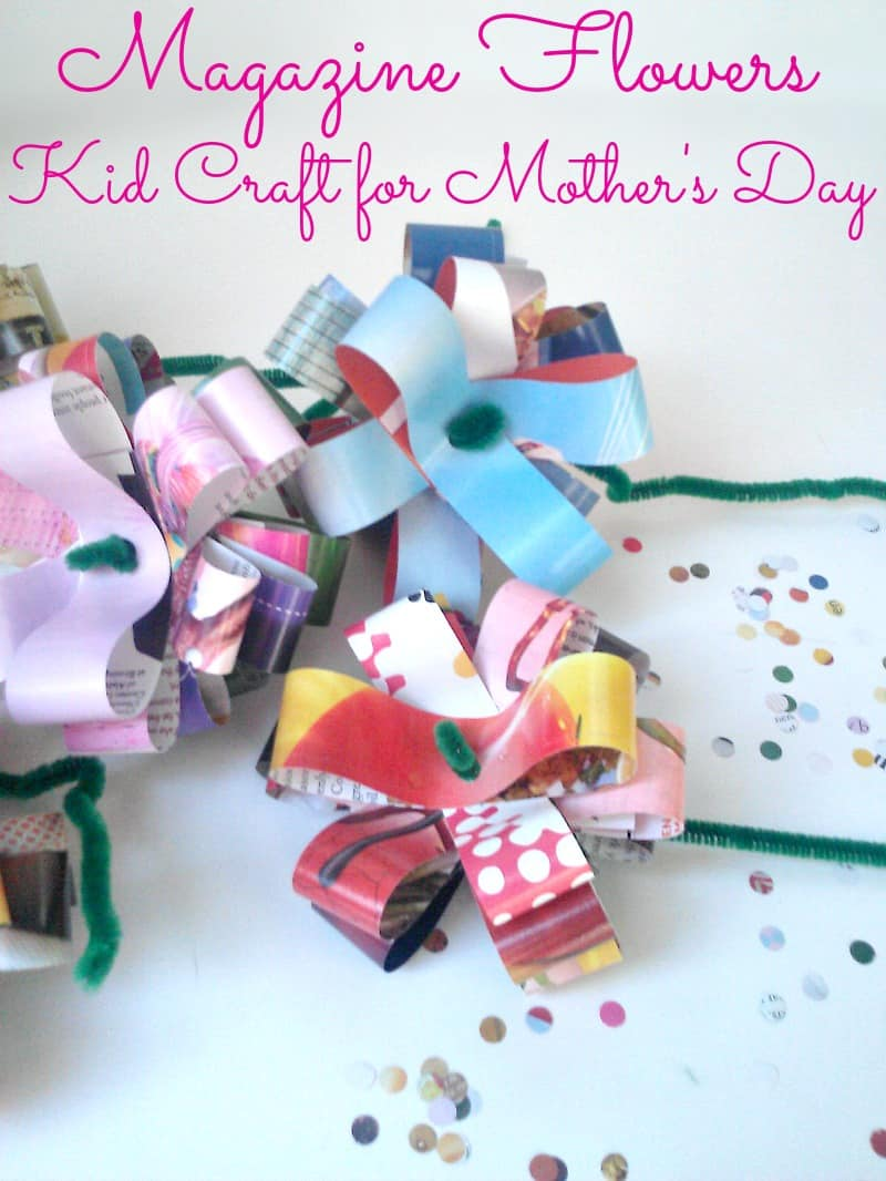 Easy Magazine Flowers for Mother's Day - Organized 31