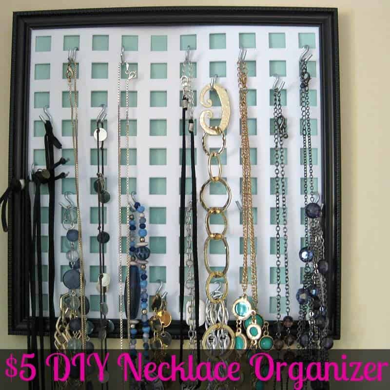 Organizing Necklaces with a DIY Craft - Organized 31