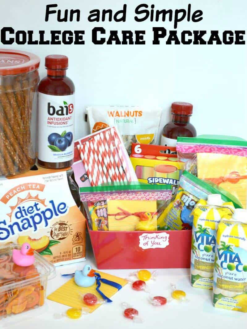 Make a fun and simple college care package for your favorite college student. #SipandBeFit [Ad]