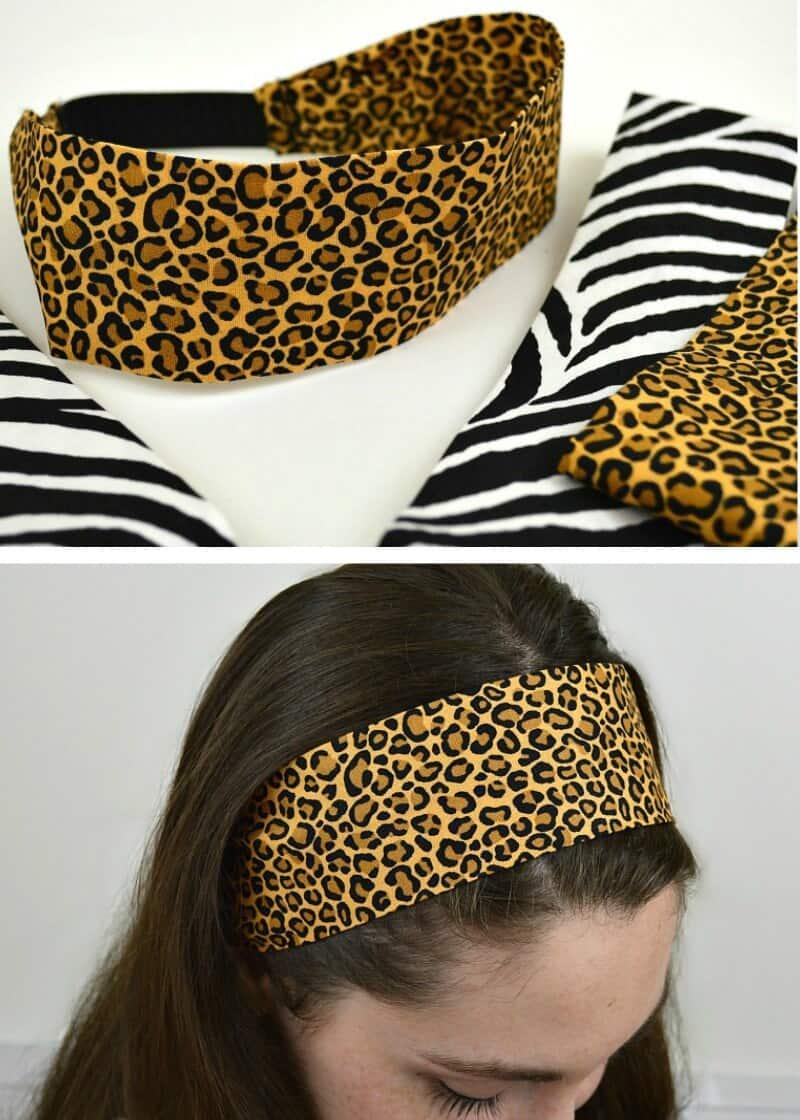 Free sewing pattern: Fabric headband