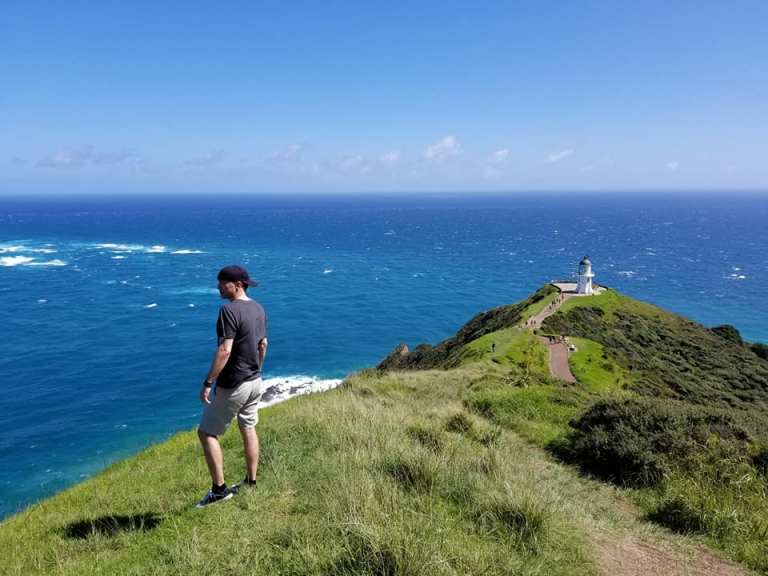 Cape Reinga view point New Zealand North Island