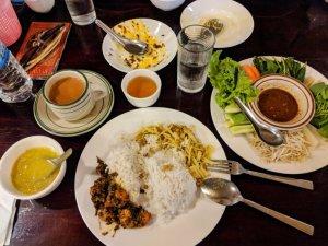 Lunch in Yangon Myanmar
