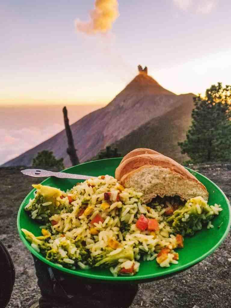 Dinner on Acatenango Volcano