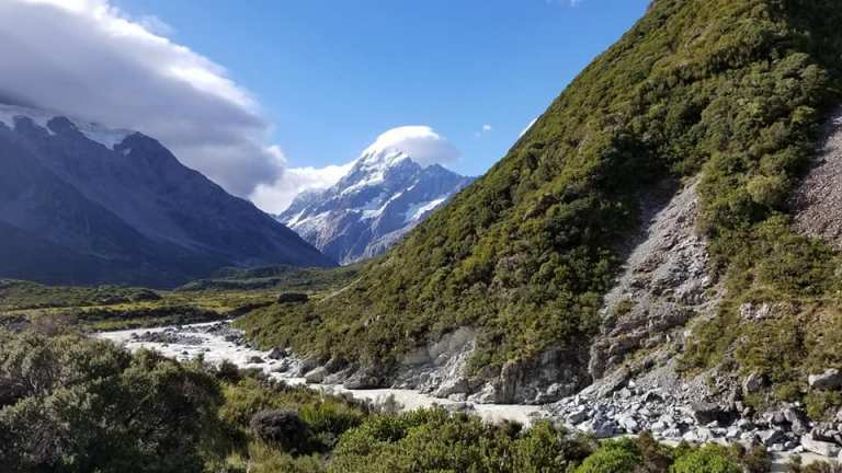 Mount Cook from Hooker Valley Hike