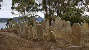 Isle of the Dead on Port Arthur Tasmania