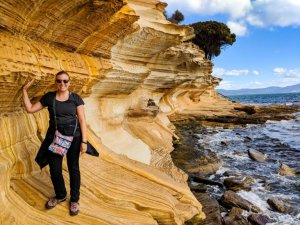 Painted Cliffs Maria Island Tasmania Australia